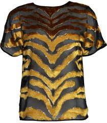 tiger burnout velvet dolman top