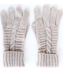 guantes trenza beige i-d