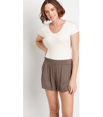 maurices womens gray dolphin 3.5in shorts