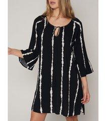 korte jurk admas strandjurk met driekwart mouwen tie and dye