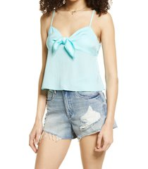 bp. bow detail tank top, size medium in teal paradise at nordstrom