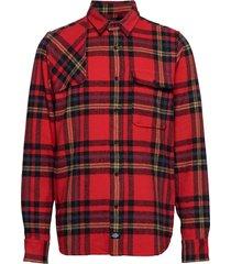 prestonburg skjorta casual röd dickies