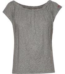 dooer top t-shirts & tops short-sleeved grå odd molly