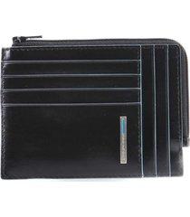 piquadro portafoglio portamonete blue square