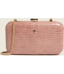 motivi borsa clutch bimaterica donna rosa