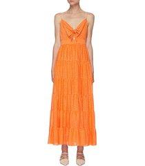 'minka' tie front maxi dress