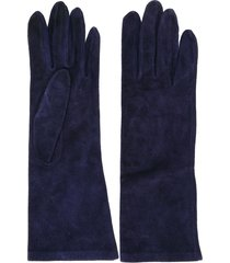 yves saint laurent pre-owned 1980's mid-length gloves - blue