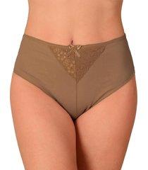 calçola vip lingerie cintura alta marrom