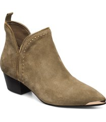 boot, rivet gold shoes boots ankle boots ankle boots with heel brun sofie schnoor