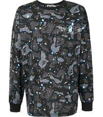 a bathing ape® camouflage print sweatshirt - black