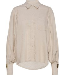 darcie shirt långärmad skjorta beige mother of pearl