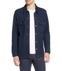 men's billy reid cotton & alpaca blend knit shirt jacket
