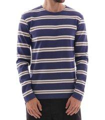 armor lux breton striped sweatshirt - ink/natural 78005