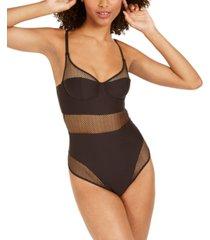dkny women's soft tech mesh bodysuit dk7016