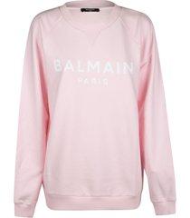 balmain regular logo print sweatshirt