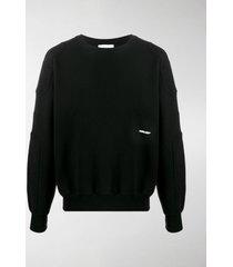ambush panelled embroidered-logo sweatshirt