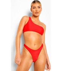 essentials mix & match hoog uitgesneden bikini broekje, red