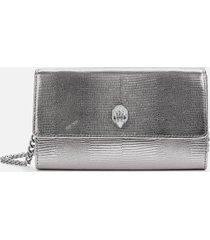 kurt geiger london women's kensington chain wallet - gunmetal