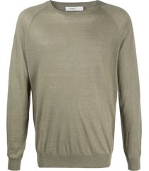 closed long sleeve pullover - green