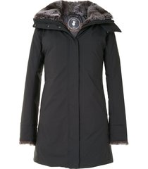 save the duck arctic synthetic down and fur parka - black