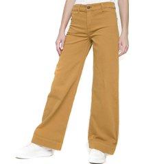 pantalon ancho maria mostaza five