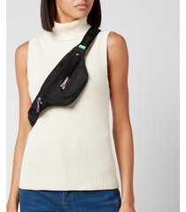 tommy jeans women's tjw campus bumbag - black