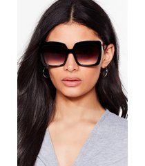 womens price of frame oversized square sunglasses - black