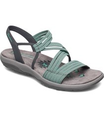 womens reggae slim - skech appeal shoes summer shoes flat sandals grå skechers