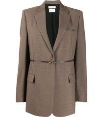 bottega veneta tailored belted blazer - brown