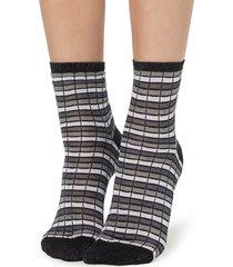 calzedonia - fancy patterned socks, one size, grey, women