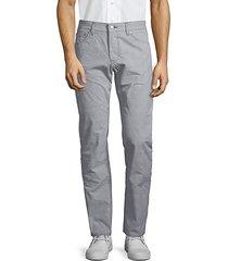 plaid regular-fit jeans