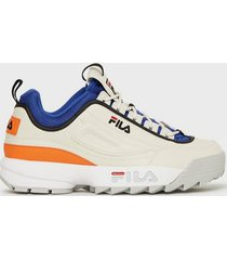 fila disruptor cb low sneakers white/blue
