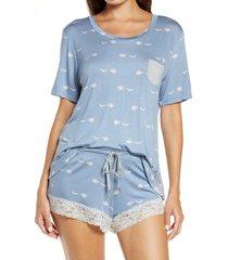 women's honeydew intimates something sweet short pajamas, size medium - blue