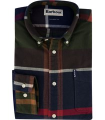 geruit overhemd groen navy barbour tailored fit