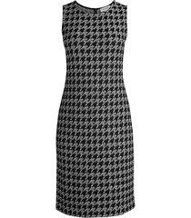 malaga wool-blend houndstooth dress