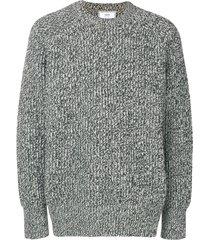 ami crew neck ribbed sweater - grey