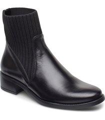 ellen_f20_ne shoes boots ankle boots ankle boot - heel svart unisa