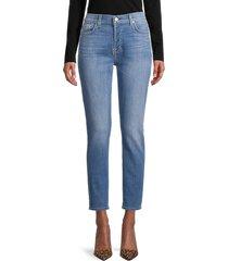 7 for all mankind women's josefina femine skinny boyfriend jeans - sea star blue - size 32 (10-12)