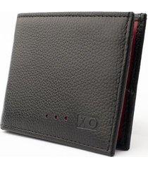 billetera aleta reverse negro/rojo