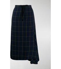 mcq alexander mcqueen high-waisted check print skirt
