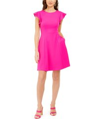 jessica howard petite ruffle-sleeve fit & flare dress