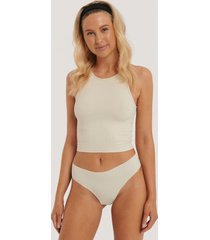 na-kd lingerie trosa brazilian - beige