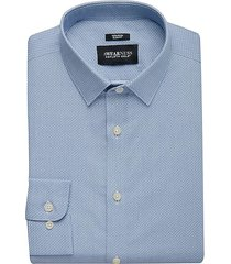 awearness kenneth cole men's navy geometric slim fit dress shirt - size: 16 32/33