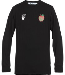 off-white apple printed t-shirt