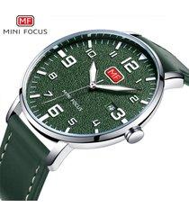 mini focus 0158g ultra delgado reloj de moda reloj de-verde