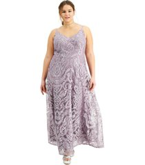 speechless trendy plus size embroidered gown