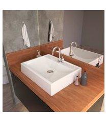 cuba de apoio para banheiro trevalla rt49 retangular