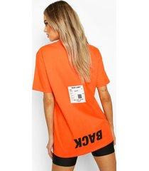 back print oversized t-shirt, orange