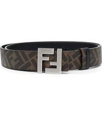 ff reversible logo buckle belt,