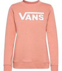 classic v crew sweat-shirt tröja rosa vans